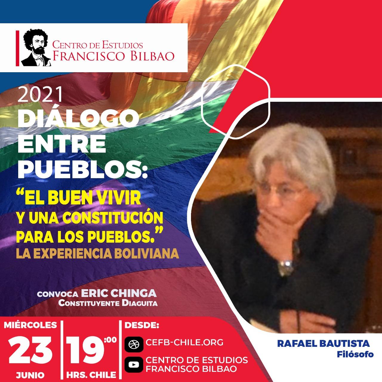 Diálogo entre pueblos: Rafael Bautista de Bolivia, Eric Chinga constituyente Diaguita-Chile